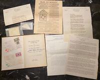 Album USA First Flight International Rocket Mail Reynosa Mexico Collection Lot