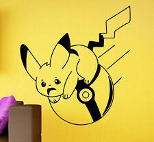 Pokemon Go Wall Decal Pikachu Vinyl Sticker Kids Room Home Interior Art Decor 3p