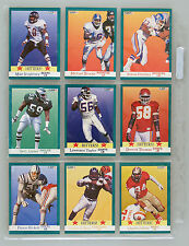 Fleer 1991 Football Cards Hitters Lot of 9