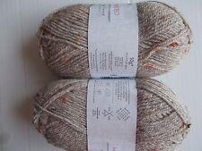 Sirdar Harrap Tweed wool blend DK yarn, Croft (beige/tan), lot of 2 (170 yds ea)