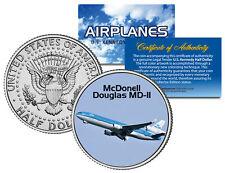 McDonell Douglas Md-Ii * Airplane Series * Jfk Kennedy Half Dollar Us Coin