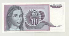 Yugoslavia 10 Dinara 1991 Pick 107A UNC Uncirculated Banknote Not Issued Ref 2