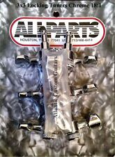 Allparts 3x3 Chrome LOCKING TUNERS 18:1 TK-7576-010