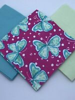 "36-6.5"" Inch Cotton Flannel Charm Pack, Precut Squares - Butterfly Theme"