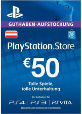At € 50 EUR PlayStation Network Card Austria Scheda Key Codice euro PSN ps4 ps3 PSP