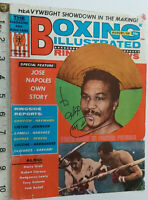 RARE JOSE NAPOLES SIGNED BOXING ILLUSTRATED COVER 1969 & COA - OFFERS ACCEPTED .