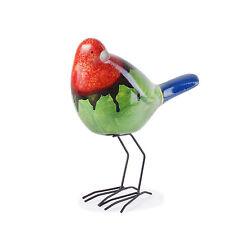 Skulpturen aus Keramik mit Vögel-Motiv