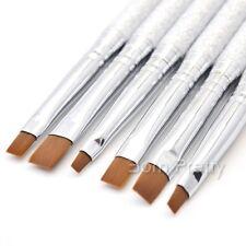 6tlg Nail Art GelPinsel Set Acryl Pinsel Brush Set