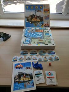 Vintage Retro Tugs 1990s Kids Board Game By Octogo Complete