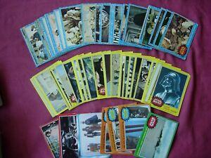 Star Wars mainly Series 1 & 3 Original 1977 Trading Cards X56 Job Lot FR-GD