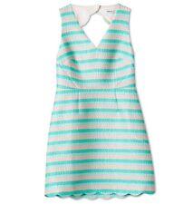 MARCS MINT Multi Stripe Scallop Dress Size 8 (tags Still On)