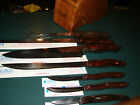Cutco Galley Set with 7 Slot Knife Block Honey Oak Wood