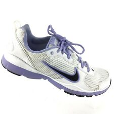 Nike Air Women's 10 Flex Trainer Athletic Sneakers Purple White Black Shoes R5S4