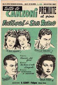 Rivista - Festival di Sanremo. Supplemento al Giornalissimo della canzone - 1951