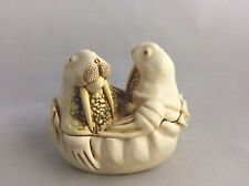 "1991 Harmony Kingdom Walrus""Tea for Two""/Box Figurine/one of earliest pieces"
