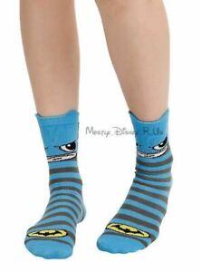New DC Comics Batman Logo Kawaii Ankle Crew Socks Size 9-11 Shoe Sz 5-10