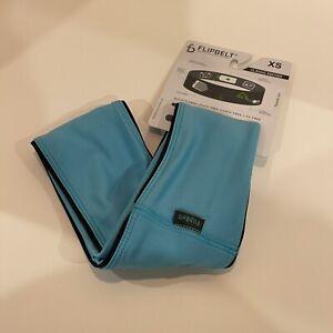 NEW FlipBelt Classic Edition Running Belt Size XS Blue