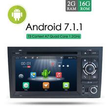 "DOPPEL 2DIN AUTORADIO 7"" ANDROID 7.1 DVD GPS NAVI SWC WIFI AUX HD Für AUDI A4 B6"