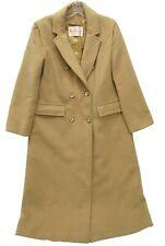 Women's Vintage Pendleton Beige Wool Overcoat Coat Jacket Medium M