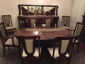 Art Deco De Coene Dining Suite Table Chairs Buffet Sideboard Empire