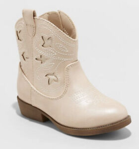 Cat & Jack Toddler Girls' Aimy Western Boots Cowgirl Rose Gold Size 9
