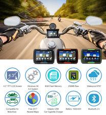 4.3 Motorcycle Car GPS Waterproof Motorbike Bluetooth Navigation NAV 8GB + Maps