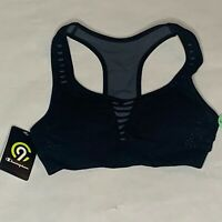 champion women's compression workout sports bra size xs black nwt