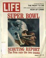 Vintage LIFE Magazine Super Bowl Scouting Report January 14 1972 Vol. 72 No. 1