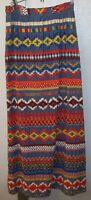 Vintage 1970s F.A. Chatta Crochet Ribbon Hippie Boho Mod Maxi Skirt Sz 8 S/M