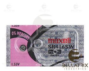 1 Battery Maxell 337 Silver Oxide Watch Batteries (SR416SW) 1.55 Volt Factory