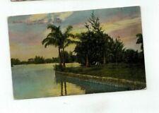 Cuba Havana antique post card Lake at Country Club Park