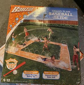 Banzai Grand Slam Baseball Water Slide /slip And Slide /  water Play