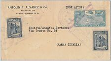 56469 - DOMINICANA Dominican - POSTAL HISTORY: AIRMAIL COVER to ITALY Parma 1930