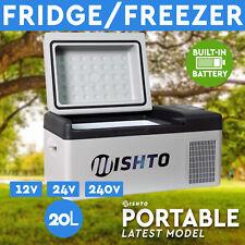 20L Portable Fridge Freezer 12V/24V/240V  Camping Car Boating Battery Included