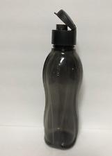 Tupperware 1L Black Water Bottle Tumbler Flip Top Pour Seal Sheer Large 36oz New
