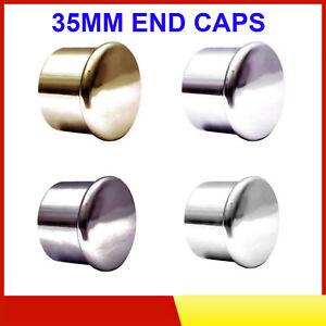 Speedy Poles Apart 35mm End Cap Curtain Pole Finials Pole Ends, 2 Pack 4 Colour