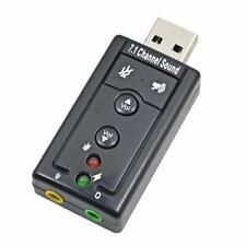 Extern USB Audio Adapter Soundkarte 7.1 3D Sound Kopfhörer Headset PS3 neu