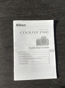 Nikon Coolpix P900 Quick Start Guide New