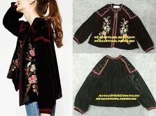 Unbranded Long Sleeve Velvet Casual Tops & Blouses for Women