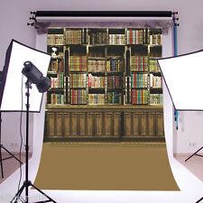 Books Scenery Vinyl Photography Backdrop Background Studio Prop 5X10FT 5676