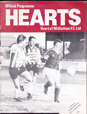 1982/83 HEART OF MIDLOTHIAN HEARTS V LEEDS UNITED 07-08-1982 Friendly