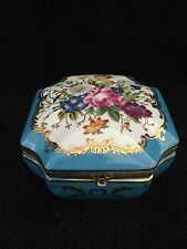 RUSSIAN GARDNER HAND DECORATED PORCELAIN BOX , size 13x13x7 cm