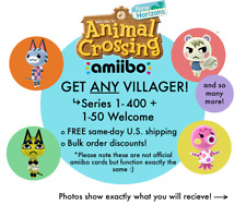 ANY Animal Crossing Villager Amiibo NFC Cards w/ Plastic Sleeve [Free Shipping]