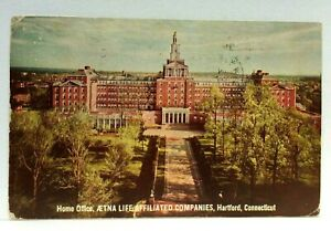 Hartford CT Aetna Life Affiliated Companies Home Office Vintage Postcard