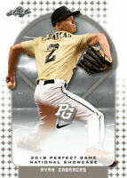 """RYAN CABARCAS 2018 """"1ST EVER PRINTED"""" LEAF PERFECT GAME ROOKIE CARD!"""