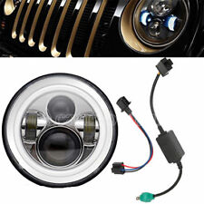 US 7'' Round 120W  LED Headlight Hi/Lo Beam for 97-18 Jeep JK TJ LJ Wrangler