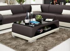 Design Glass Table Leather Couch Sofa Wohnzimmertische CT9005b