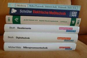 6 x wertige Fachbücher Elektronik Elektrotechnik
