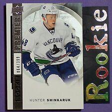 HUNTER SHINKARUK  /399  RC  2015-16  UD  Premier  Rookie #R35  Vancouver Canucks