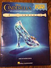 Disney Cinderella Recorder Fun instructions Finger Chart